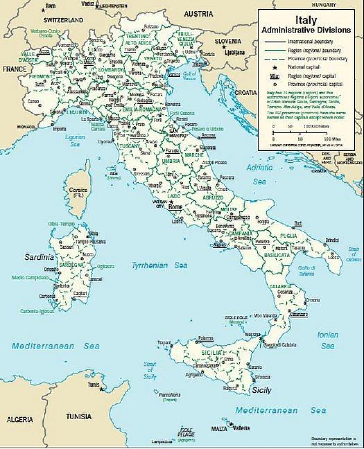 Harta Din Sudul Italiei Orase Harta Italia Orașe Din Sud Europa