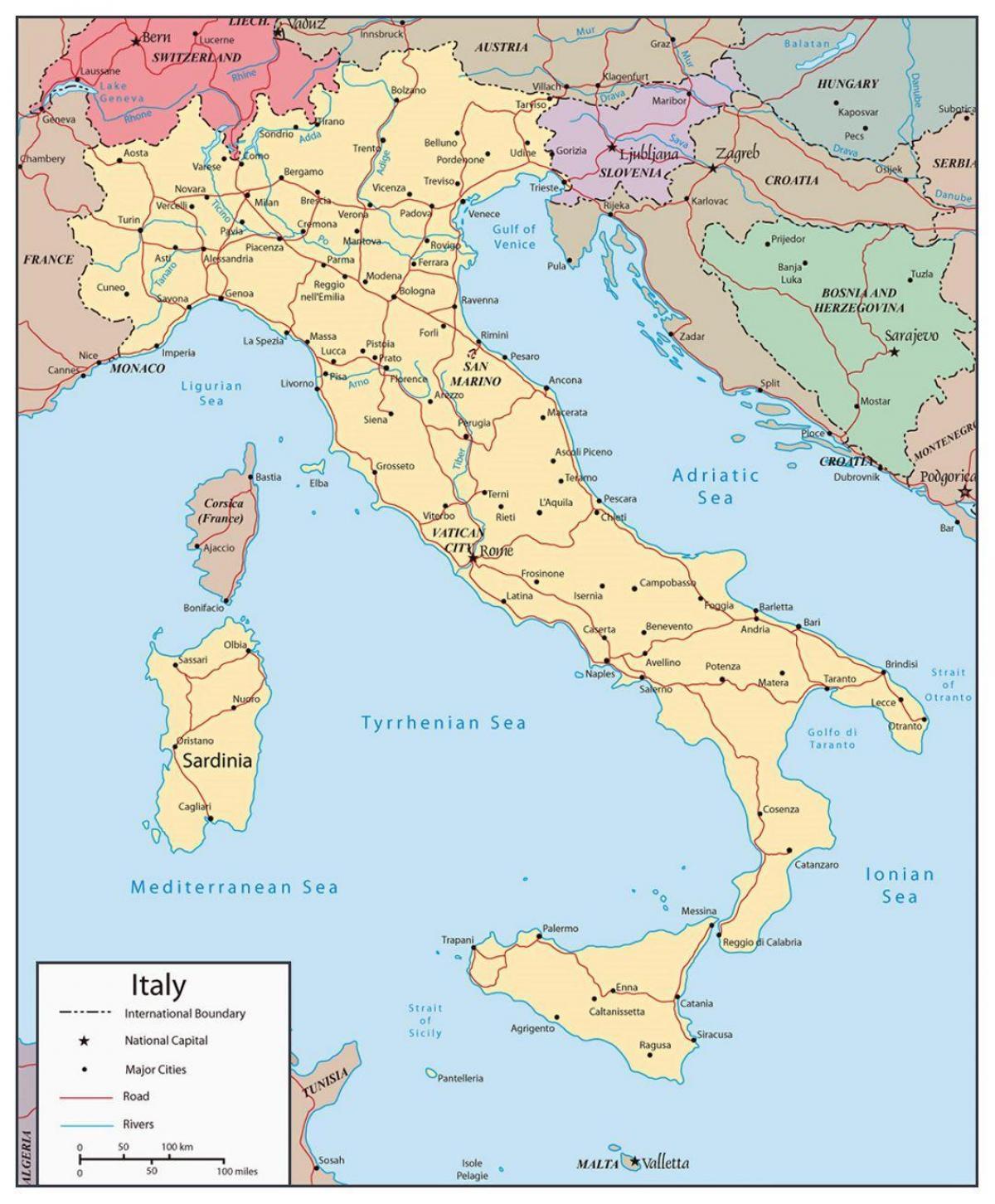 Harta Italia Cu Orase Harta Italia Arată Marile Orașe Europa De