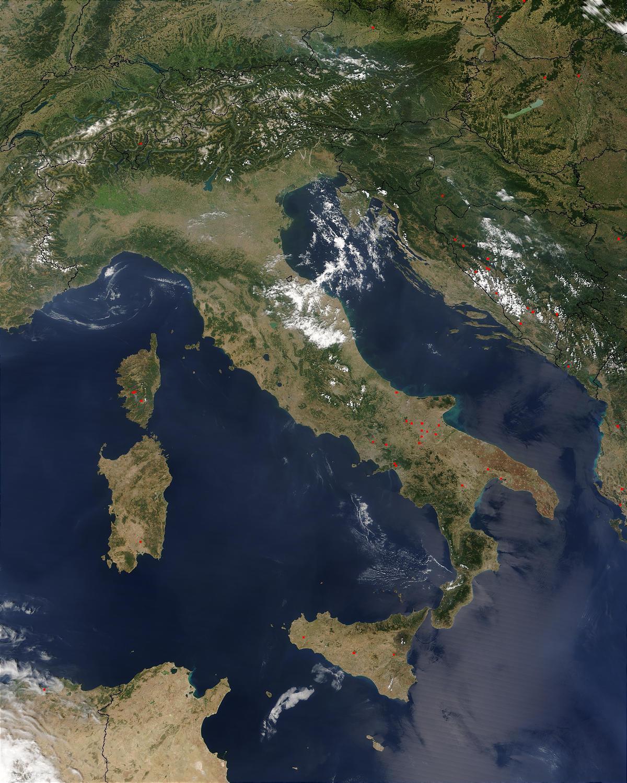 Italia Harta Prin Satelit Harta De Italia Prin Satelit Europa